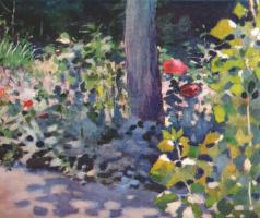 Victor Elpidiforovich Borisov-Musatov. Poppies in the garden