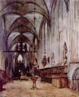 Адольф фон Менцель. Хоры старой монастырской церкви в Берлине