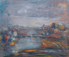 Alexander Grigoryevich Tyshler. Evening cityscape