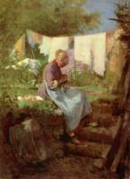 Николае Григореску. Штопающая старуха