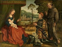Бернард ван Орлей. Богоматерь с Младенцем, с Эрнаном Гомесом Давилой и со святым Франциском