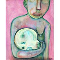 Migel Grase. Человек с черепом