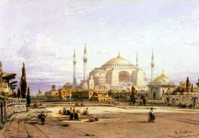 Эдуард Хильдебрандт. Храм Святой Софии в Константинополе