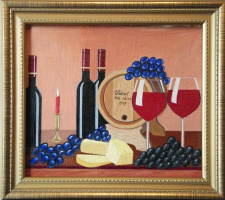 Still life with grapes and cheese #1.
