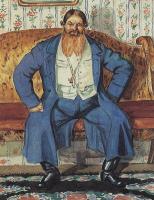 """Борис Михайлович Кустодиев. Купец. Из серии """"Русь. Русские типы"""""""