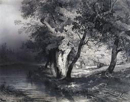 Алексей Кондратьевич Саврасов. Лес у озера, освещенный солнцем