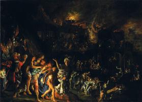 Адам Эльсхаймер. Пожар Трои