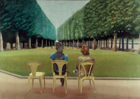 David Hockney. Park of Sources, Vichy