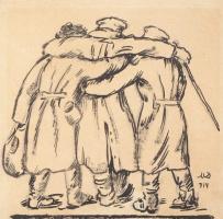 Раненые. 1914 перо