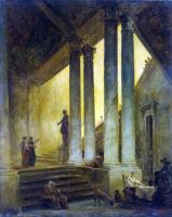 Гюбер Робер. Лестница с колоннами