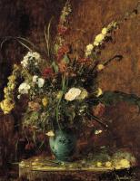 Михай Либ Мункачи. Натюрморт с цветами в вазе