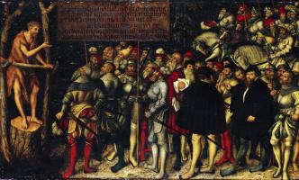 Lucas Cranach the Younger. Проповедь святого Иоанна Крестителя. 1543
