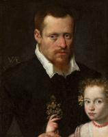 Софонисба Ангвиссола. Портрет мужчины с дочерью