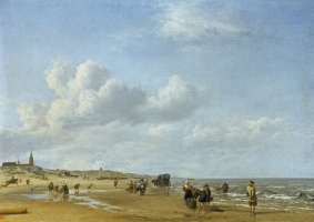 Адриан ван де Вельде. Побережье в Схевенингене