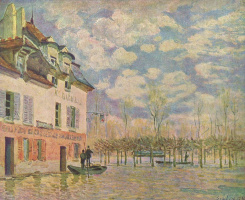 Alfred Sisley. Boat during the flood, port-Marly