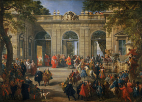 Giovanni Paolo Pannini. King Charles III visited Pope Benedict XIV in the Coffee pavilion for the Quirinale Palace