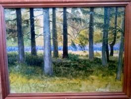 Nikolay Dmitrievich Pushkarev. Edge of the forest