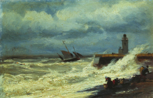 Alexey Petrovich Bogolyubov. Surf in a storm
