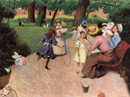 Federico Zandomeneghi. Kids games in the Park Monceau