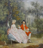Thomas Gainsborough. Conversation in the Park