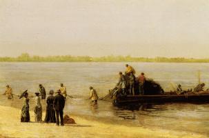 Томас Икинс. Рыбалка в Глостере на реке Делавэр