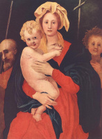 Якопо Понтормо. Мадонна с младенцем, Святой Иосиф и Святой Иоанн Креститель