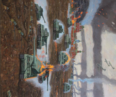 Евгений Александрович Казанцев. Borodino. Mozhaysk line of defense. 1941god.