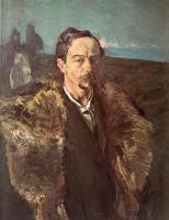Сергей Васильевич Малютин. Автопортрет в шубе