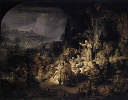 Rembrandt Harmenszoon van Rijn. The Preaching Of John The Baptist