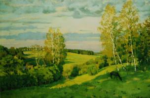 "Konstantin Fedorovich Yuon. ""May evening"" 1900s"