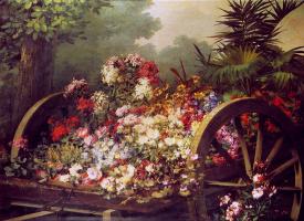 Дезире Кегхел. Корзина с цветами