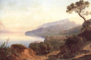 Иоганн Георг Гмелин. Вид Амальфи в заливе Сорренто