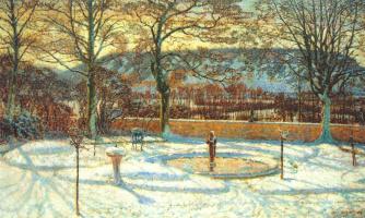 Фредерик Макмонниес. Парк в снегу