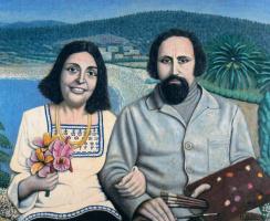Хигинио Маллебрера. Мужчина и женщина с цветами
