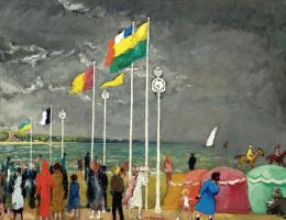 Кес Ван Донген. Часы на пляже Довиля