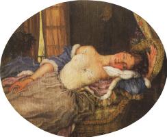 Константин Андреевич Сомов. Спящая молодая женщина