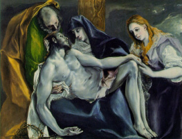 Эль Греко (Доменико Теотокопули). Пьета (Скорбящая Богоматерь)