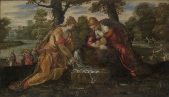 Jacopo (Robusti) Tintoretto. Finding Moses