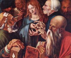 Альбрехт Дюрер. Двенадцатилетний Христос среди книжников