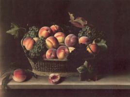 Луис Моиллон. Натюрморт с персиками