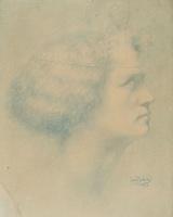 Жан Дельвиль. Профиль женщины
