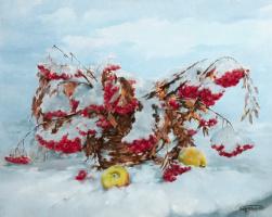 Василий Коркишко. Apples in the snow