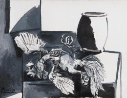 Пабло Пикассо. Мертвый петух и банка