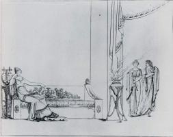 "Fedor Petrovich Tolstoy. Illustration for the poem by I. F. Bogdanovich ""Darling"". Sheet XXXIII"