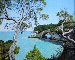 Lyudmila Nikolaevna Yevtushenko. Trees on a rocky shore
