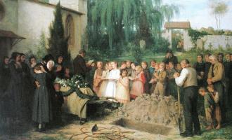 Альберт Анкер. Детские похороны