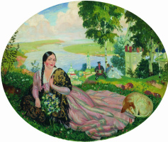 Boris Mikhailovich Kustodiev. The girl on the Volga