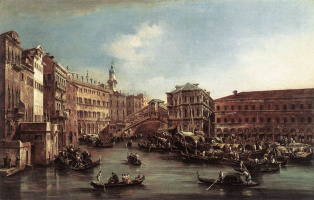 Francesco Guardi. Rialto Bridge