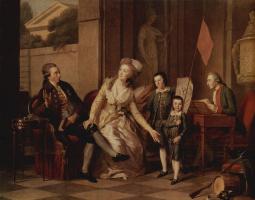 Иоганн Генрих Вильгельм Тишбейн. Семейный портрет княгини Салтыковой