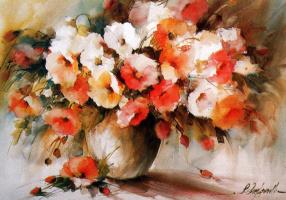 Фабио Кембранелли. Цветы в вазе